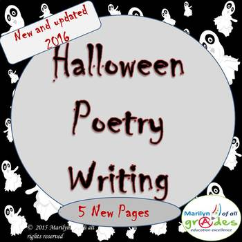 Halloween Poetry Unit - Updated - 2016