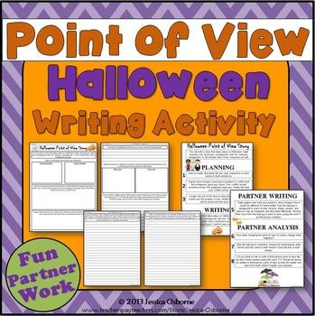 Halloween Point of View Partner Writing Activity: (plot &