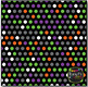 Halloween Polka Dots on Black Digital Papers {Commercial U