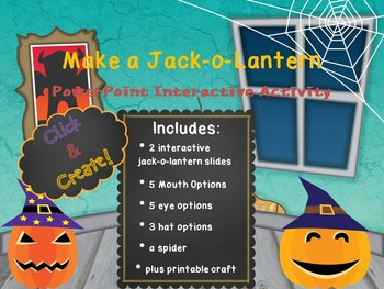 Halloween PowerPoint Interactive Activity - Make a Jack-o-lantern