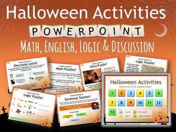 Halloween Starter Activities, No prep, no print! Grades 3