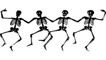 Halloween Powerpoint Layout Template Dancing Skeletons