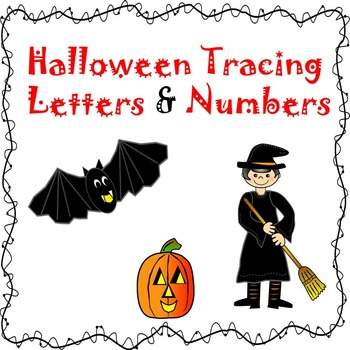 Halloween Pre-k Vocab, Beginning Letters & Number Tracing