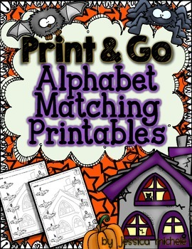 Halloween Print & Go Alphabet Matching Printables