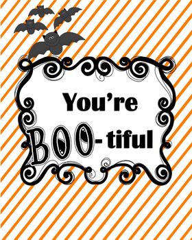 Halloween Printable Bulletin Board Idea Class Decor You're