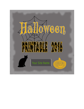 Halloween Printables - Primary Grades