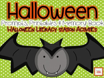 Halloween: Prompts, Printables and Memory Book {Literacy S