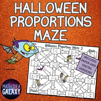 Halloween Math Activity-Proportions Maze