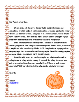 Halloween Pumpkin Carving Technical Writing Essay Package