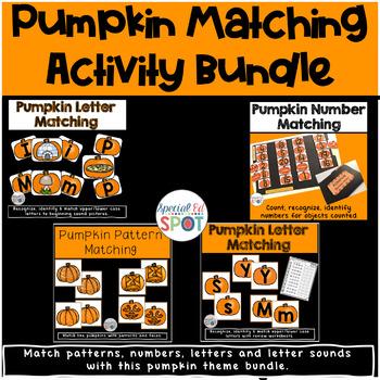 Halloween Pumpkin Matching Bundle Activity Set