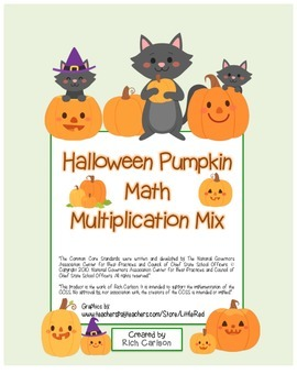 """Halloween Pumpkin Math"" Mixed Multiplication -Common Core"