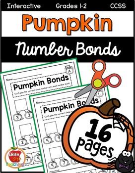 Halloween Pumpkin Number Bonds