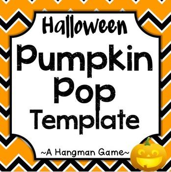 Halloween Pumpkin Pop Hangman Template