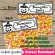 Halloween Pumpkin Teeth Treat Bag Topper Black Line Candy