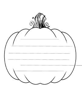 Halloween Pumpkin Writing