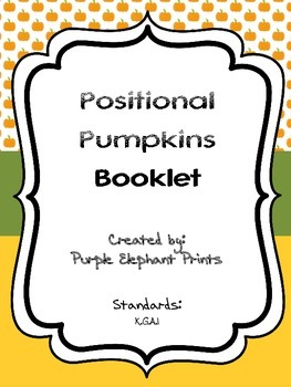 Halloween Pumpkins Positional Words Booklet