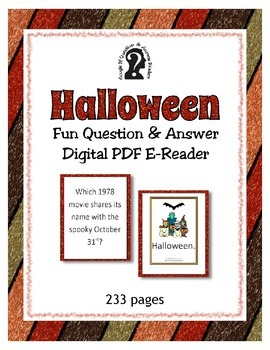 Halloween Question & Answer Easy to read PDF e-book ~ Triv