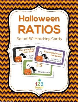 Halloween Ratios - Matching Activity