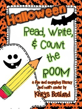 Halloween Read, Write, and Count the Room {Literacy and Ma