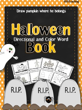 Halloween Reader with Directional and Color Words