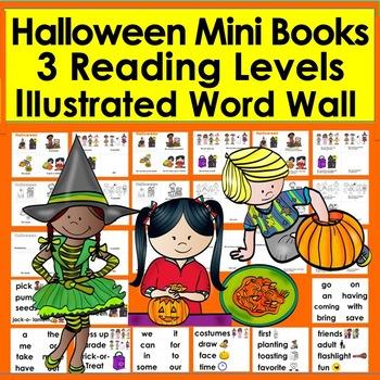 Halloween Readers -3 Levels + Word Wall - Pumpkin Carving