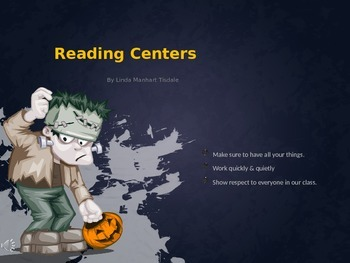 Halloween Reading Center Transitions