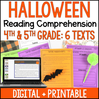 Halloween Reading Comprehension Passages and Activities {J