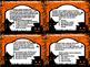 Halloween Reading Comprehension Task Cards (32 Task Cards)