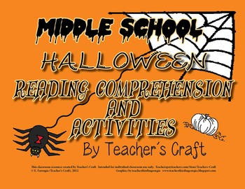 Halloween Reading Comprehension and Activities