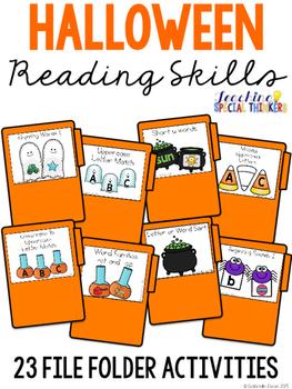 Halloween Reading File Folders