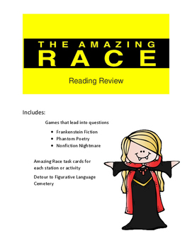 Halloween Reading Game Amazing Race Theme