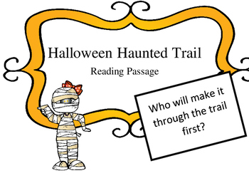 Halloween Reading Haunted Trail Game