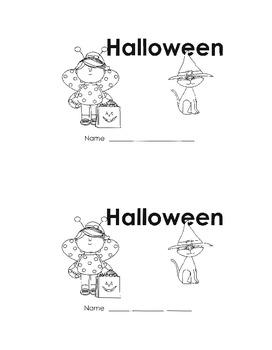 Halloween Reading Kindergarten or First Grade