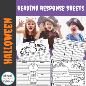 Halloween Reading Response Frames Grades 1-2 {C.C 1.RL 1,