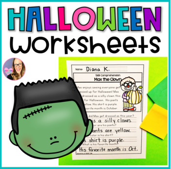 #Hallowdeals Halloween Reading and Math Worksheets (K-1)