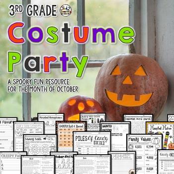 Halloween Activities Mega Pack 3rd Grade