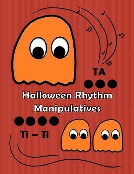 Halloween Rhythm Manipulatives - Deluxe Color Edition!