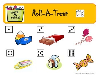 Halloween Roll A Treat Game