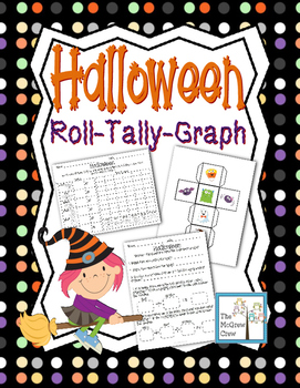 Halloween Roll Tally Graph Math Activity Set