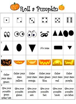 Halloween: Roll a Pumpkin