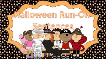 Halloween Run-On Sentences Task Cards