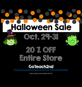 Halloween SALE - 20 % OFF Entire Store