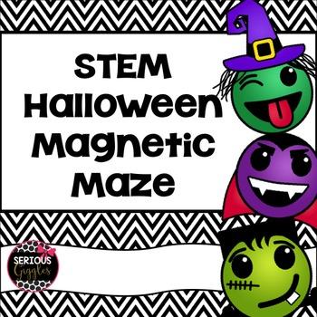 Halloween STEM magnetic maze