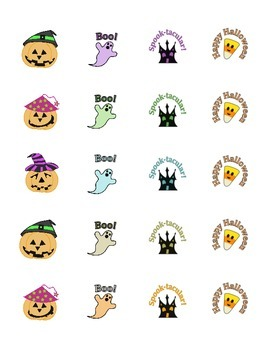 Halloween STICKERS * Pumpkin * Ghost * Haunted House * Candy Corn