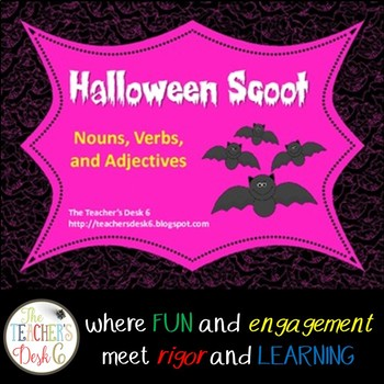 Halloween Scoot Nouns, Verbs, Adjectives
