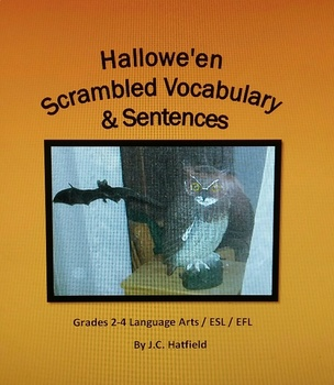 Hallowe'en Scrambled Vocabulary and Sentences