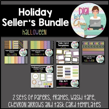 Halloween Seller's clipart Bundle