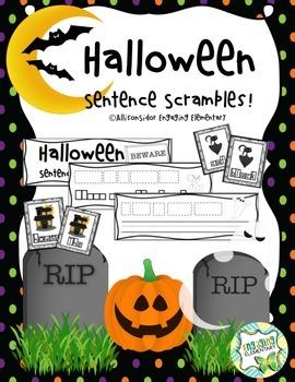 Halloween Sentence Scramble