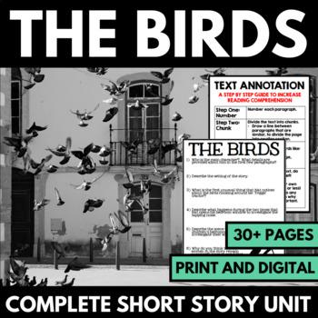 The Birds by Daphne Du Maurier Short Story Unit with Quest