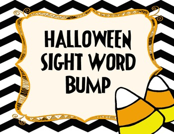 Halloween Sight Word Bump